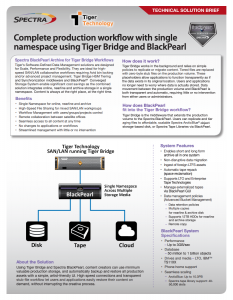 Spectra and Tiger Technology Solution Brief