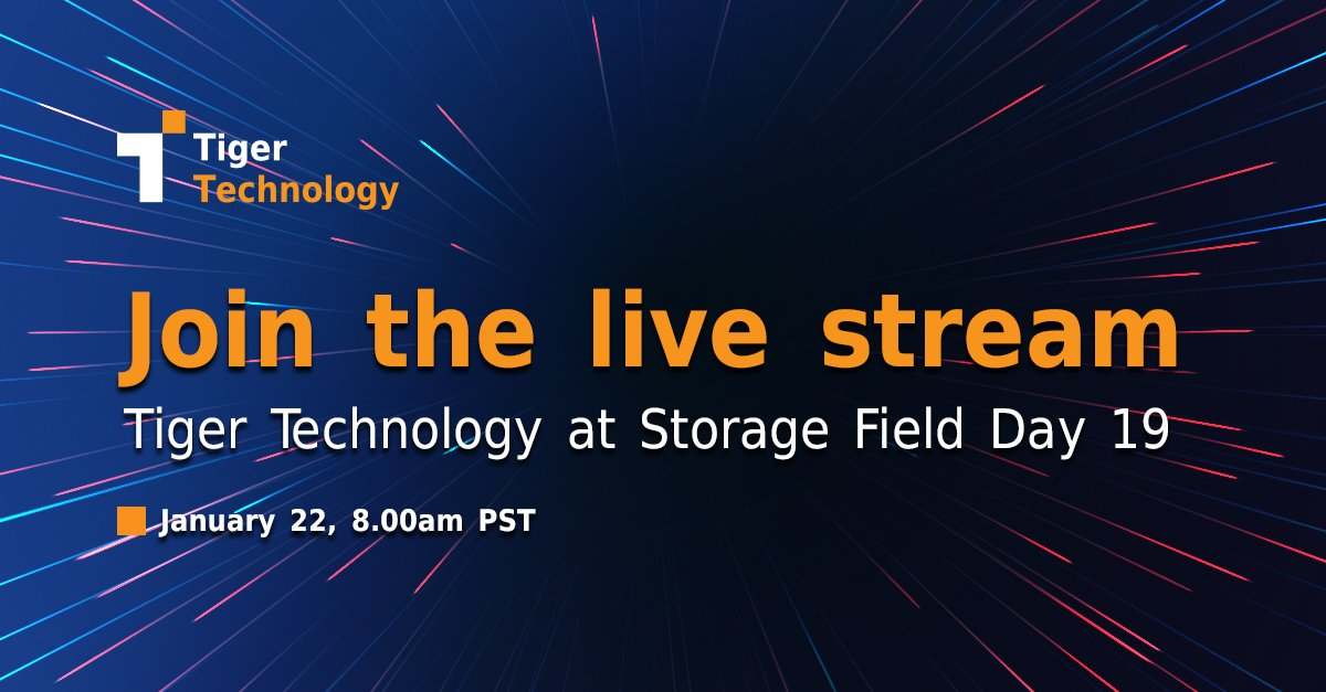 Storage Field Day Live Stream