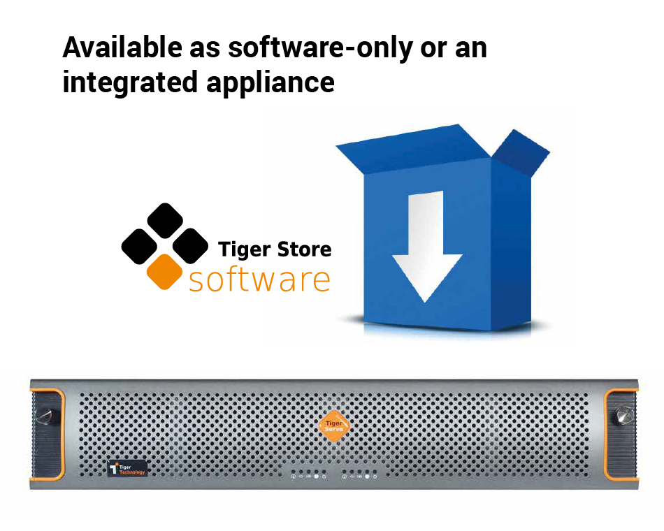 Tiger Store software-only or integrated appliance is an ideal Quantum StorNext alternative